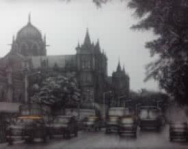 Mumbai | Drawing by artist Yuvraj Patil |  | charcoal | Canvas