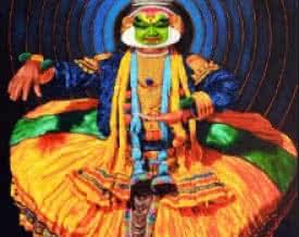 Dance Kathakali 2 | Painting by artist Prashant Yampure | acrylic | Canvas