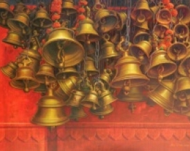 art, painting, acrylic, canvas, religious, varanasi