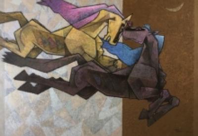 Dinkar Jadhav | Acrylic Painting title Serendipity on Canvas | Artist Dinkar Jadhav Gallery | ArtZolo.com