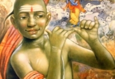 Apet Pramod | Acrylic Painting title Krishna on Canvas