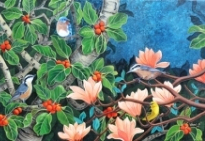 Vani Chawla | Acrylic Painting title Evening Song 5 on Canvas