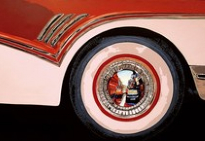 Transportation Acrylic Art Painting title Life Wheel 12 by artist Sujit Karmakar