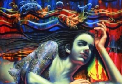 Figurative Acrylic Art Painting title 'Peace' by artist Prashanta Nayak