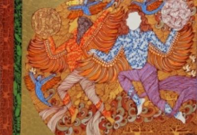 Seema Kohli | Mixed-media Painting title Untitled 3 on Canvas | Artist Seema Kohli Gallery | ArtZolo.com