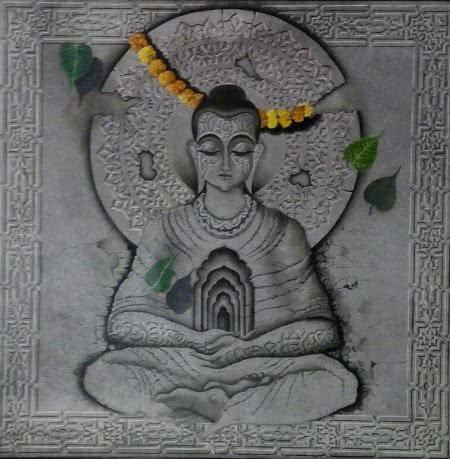 Buddha in medidation by MOHD. SHAKEEL SAIFI