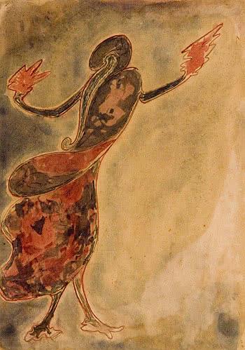 Rabindranath's Tagore Dancing Woman