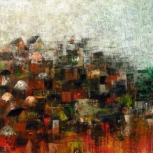 My Village | Painting by artist M Singh | acrylic | Canvas