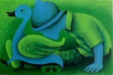 Figurative Acrylic Art Painting title 'Athkheliyan 44' by artist Lakhan Singh Jat