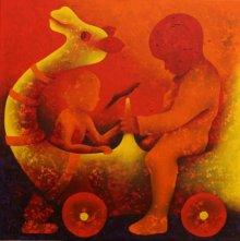 Athkheliyan 51 | Painting by artist Lakhan Singh Jat | acrylic | Canvas