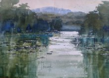 Bijay Biswaal | Watercolor Painting title Morning Glory on Paper