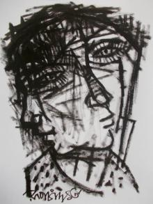 Pen-ink Paintings | Drawing title Pain 9 on Paper | Artist Rupchand Kundu