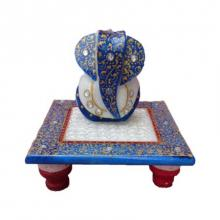 Painted Marble Ganesha Sculpture | Craft by artist Ecraft India | Marble