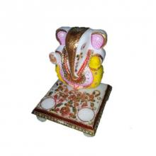 Attractive Lord Ganesha On Chowki | Craft by artist Ecraft India | Marble