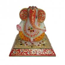 Embossed Lord Ganesha | Craft by artist Ecraft India | Marble