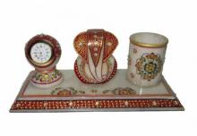 Ecraft India | Lord Ganesha With Watch And Pen Craft Craft by artist Ecraft India | Indian Handicraft | ArtZolo.com