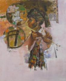 Ajay Deshpande | Oil Painting title Tuning With Nature 3 on Canvas | Artist Ajay Deshpande Gallery | ArtZolo.com