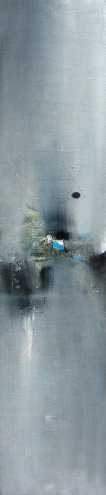 Abstract Acrylic Art Painting title 'Reflection' by artist M Singh