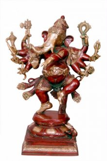 Brass Art | Dancing Ganesha Brass Statue Craft Craft by artist Brass Art | Indian Handicraft | ArtZolo.com