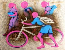 Lakhan Singh Jat | Acrylic Painting title Athkheliyan 95 on Canvas | Artist Lakhan Singh Jat Gallery | ArtZolo.com