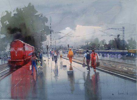 Wet Platform Red By Bijay Biswaal