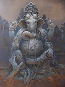 Bijay Biswaal | Acrylic Painting title Prarambh on Canvas