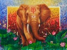 art, painting, oil, canvas, animal, horse