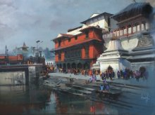 Bijay Biswaal | Acrylic Painting title Pashupati Express on Canvas