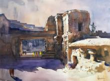 Bijay Biswaal | Watercolor Painting title Ajanta Ellora 2 on Paper