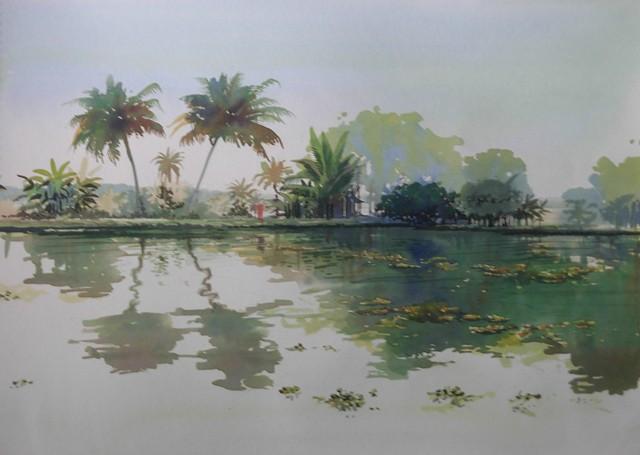 Backwaters By Artist Bijay Biswaal Artzolo Com