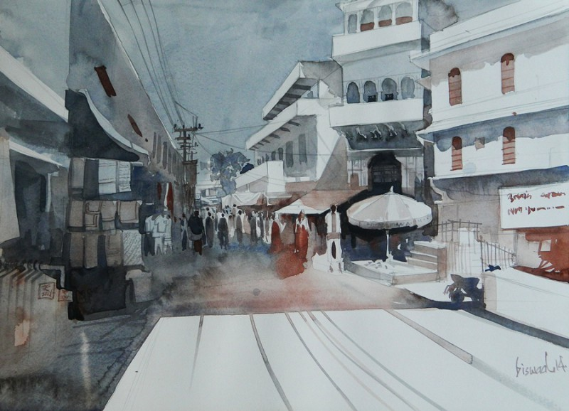 Small Town By Artist Bijay Biswaal Artzolo Com