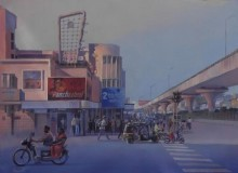Bijay Biswaal | Acrylic Painting title Majestic Nagpur on Canvas