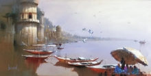 Bijay Biswaal | Acrylic Painting title Varanasi 3 on Canvas