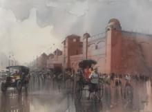 Bijay Biswaal | Watercolor Painting title Vintage Calcutta on Paper