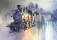 Bijay Biswaal | Watercolor Painting title Wet Platform on Paper