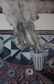 Sukhmoy Bagh | Alone Printmaking by artist Sukhmoy Bagh | Printmaking Art | ArtZolo.com