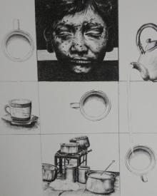 Sukhmoy Bagh | Chai Labour Printmaking by artist Sukhmoy Bagh | Printmaking Art | ArtZolo.com