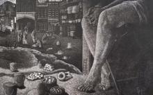 Preya Bhagat | A Cherished Desire Printmaking by artist Preya Bhagat | Printmaking Art | ArtZolo.com