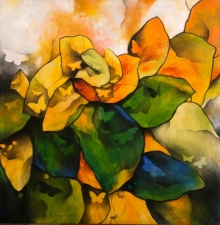 Nature Acrylic-charcoal Art Painting title 'Untitled 5' by artist Ajay De