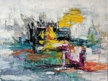 Abstract Acrylic Art Painting title 'Untitled 2' by artist Kamran Azim