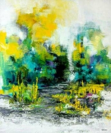Abstract Acrylic Art Painting title 'Untitled 5' by artist Kamran Azim