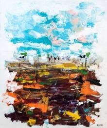 Abstract Acrylic Art Painting title 'Untitled 6' by artist Kamran Azim