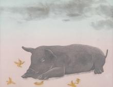 Dushyant Patel | Piggy Printmaking by artist Dushyant Patel | Printmaking Art | ArtZolo.com