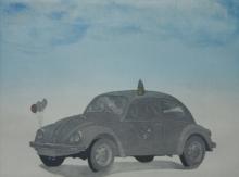 Dushyant Patel | Wedding Car Printmaking by artist Dushyant Patel | Printmaking Art | ArtZolo.com