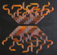 Abstract Acrylic Art Painting title Dark Truth by artist Kishor Gaonkar