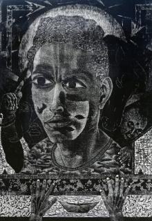 Jintu Mohan Kalita | Hope 2 Printmaking by artist Jintu Mohan Kalita | Printmaking Art | ArtZolo.com