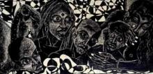 Jintu Mohan Kalita | Untitled Printmaking by artist Jintu Mohan Kalita | Printmaking Art | ArtZolo.com