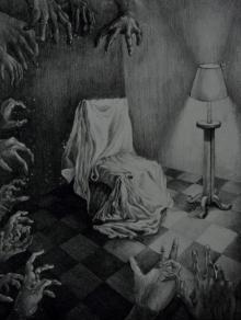 Ankita Daulatabadkar | Untitled 4 Printmaking by artist Ankita Daulatabadkar | Printmaking Art | ArtZolo.com