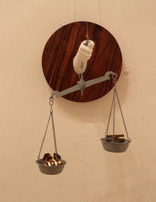 Mixedmedia Sculpture titled 'The Price Of Belief' by artist Laxman Ahire
