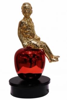 Mixedmedia Sculpture titled 'Apple Boy' by artist Ram Kumbhar